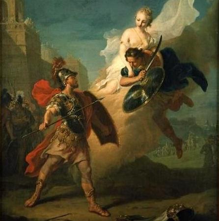 Menelaus and Paris - Johann Heinrich Tis