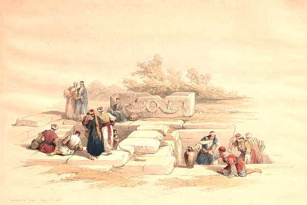 1839_Fountain_at_Cana_colour_lithograph_