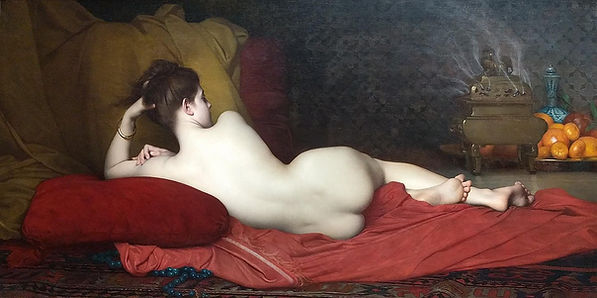 Odalisque Art Print by Jules Joseph Lefe