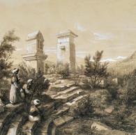 xantus monumental tombs & Theater drawing