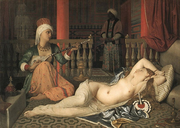 Odalisque With A Slave Painting by Jean