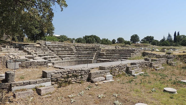 Theater in Troia Turkey