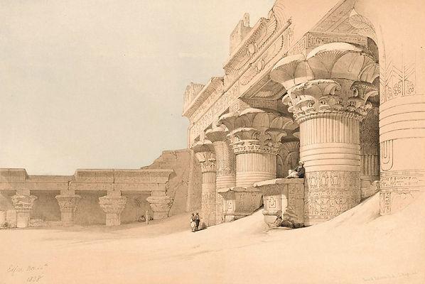 1846_Egypt_and_Nubia,_Edfou_colour_litho
