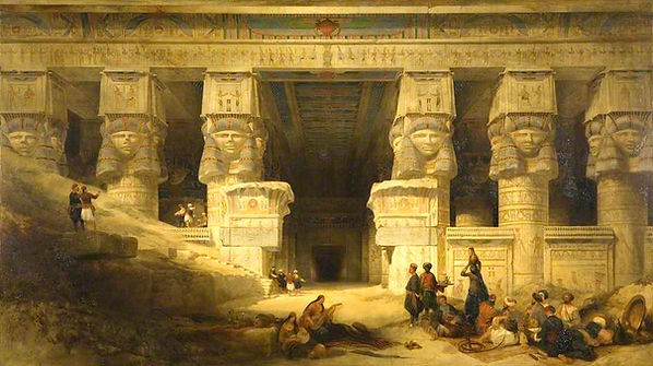 1841_The_Temple_of_Dendera,_Upper_Egypt_