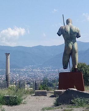 Broze statue in Pompei