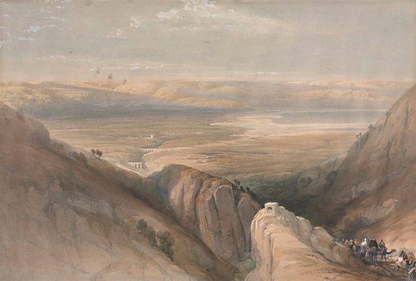 1839 Descent from the Valley of the Jord