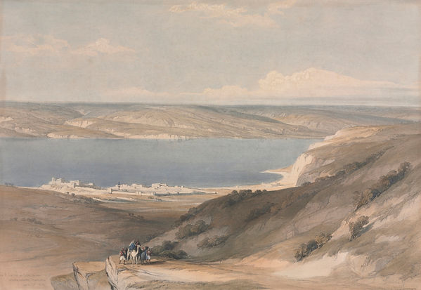 1839 Sea of Galilee at Genezareth lookin