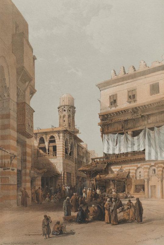 1848 Egypt and Nubia, Volume III; Bazaar