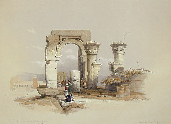 1847 Egypt and Nubia, Ruins - Temple on