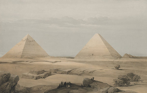 1848 Egypt and Nubia,Pyramids of Geezeh.