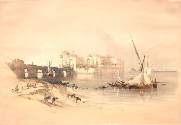 1839_Citadel_of_Sidon_colour_lithograph_