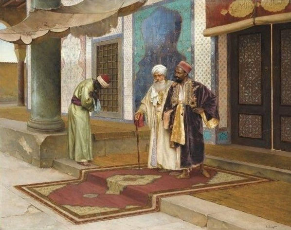 Leaving-the-Mosque-Rudolf-Ernst-Oil-Pain