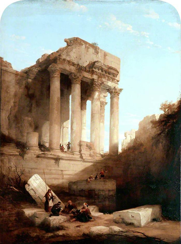 1840 Baalbec, Ruins of the Temple of Bac