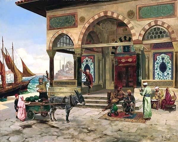 Istambul-Mosque-Rudolf-Ernst-Oil-Paintin