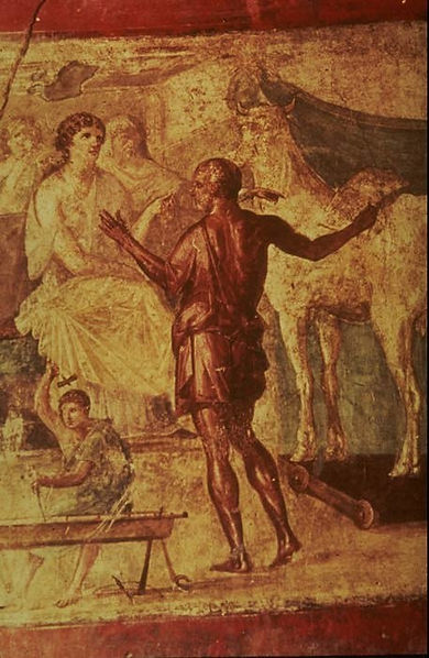Daedalus and Pasiphae in the House of the Vettii in Pompeii