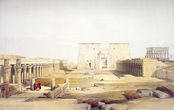Grand Approach to the Temple of Philae,