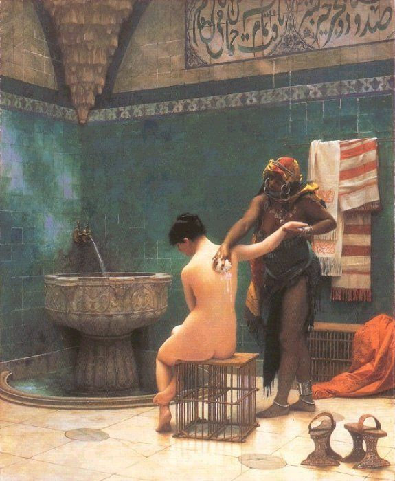 orientalist arts the bath Jean-Leon Gero