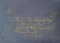 Wedding Envelope - Edward Gorey - Callig