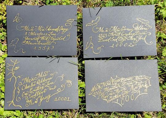 Halloween Wedding Envelopes - Calligraph