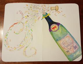 Champagne Card