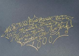 Wedding Envelope - Bruce Wayne - Calligr