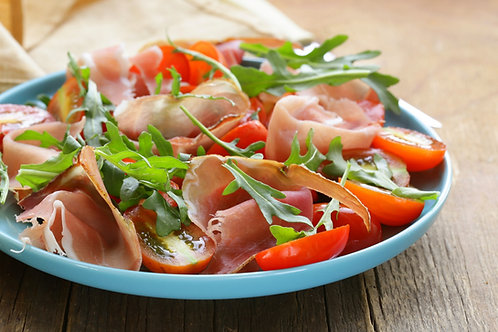 Parma Ham with Fresh Figs, Burrata & Balsamic Glaze