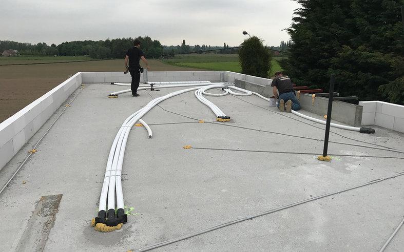 Ventilatie D - Verdeelkanalen op dak