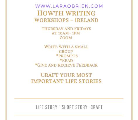 Zoom Writing Workshops - sign up.