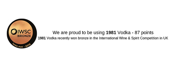We are proud to be using 1981 Vodka - 87