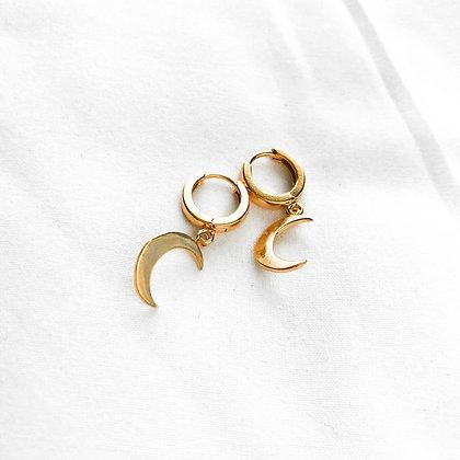 Kolczyki koła z dwoma księżycami