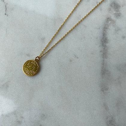 Naszyjnik z monetką złoto