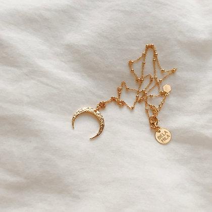 Naszyjnik z kuleczkami i księżycem
