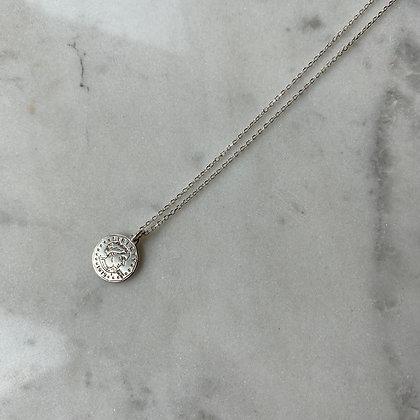 Naszyjnik z monetką srebro