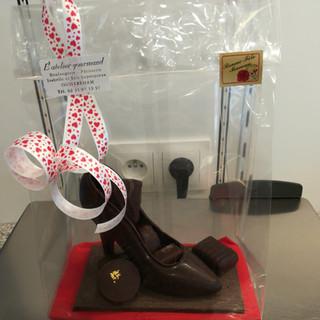 Chaussure en chocolat