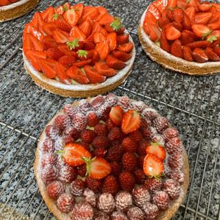 Tarte fraises-framboises