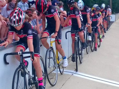 Mission Source Jrs on the boards at Dick Lane Velodrome for Trophy Cup race