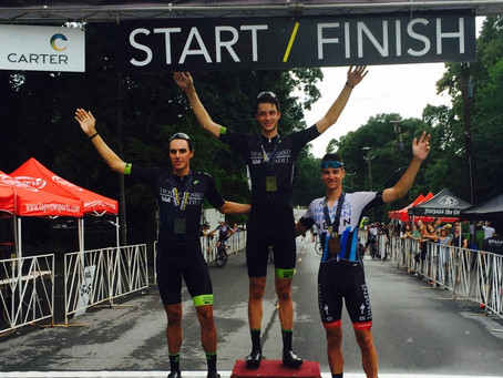 Ian Garrison, Mission Source Jr alumni, now riding for Hincapie takes 1st in P/1/2 at Grant Park cri