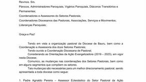 COMUNICADO PASTORAL - 25/02/2019