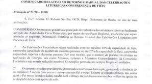 DECRETO DIOCESANO DE 17 DE AGOSTO DE 2020