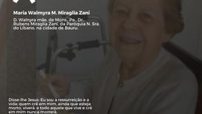 Nota de Pesar- Maria Walmyra M. Miraglia Zani