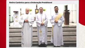 Os Diáconos Rodrigo e Heraldo iniciaram esta semana o Retiro Canônico para a Ordenação Presbiteral