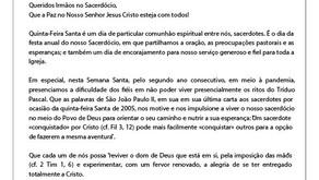 Mensagem aos Padres- Pe. Agnaldo Pereira