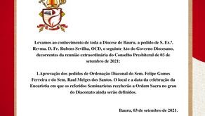 ATOS DO GOVERNO - 03 de setembro de 2021