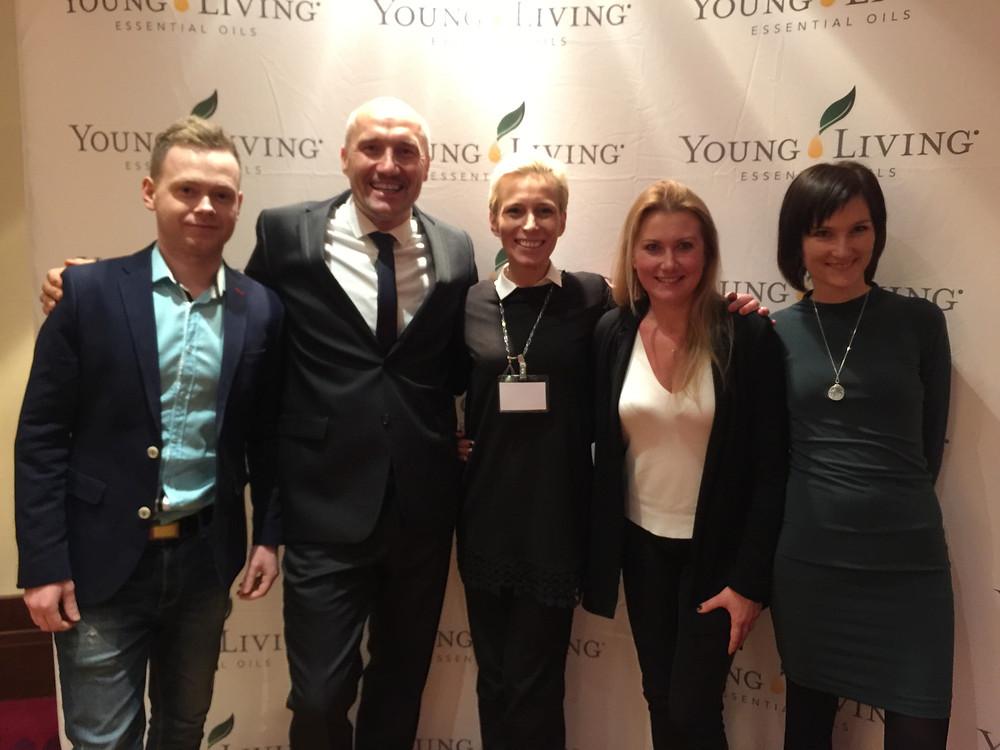 Vaclav Thor - dyrektor na Europę Wschodnią Young Living z grupa polskich liderów