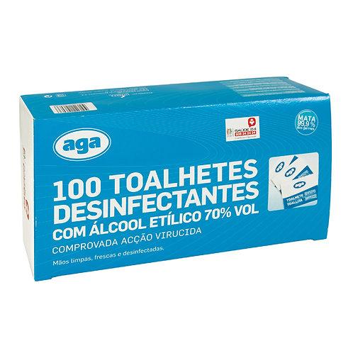 Toalhetes Desinfectantes - 100un