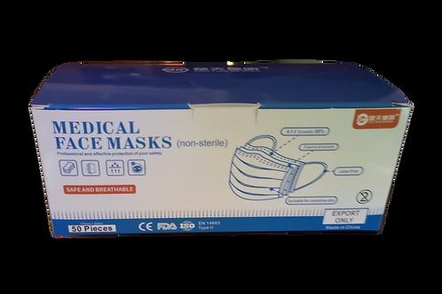 Máscaras Cirúrgicas - 50un