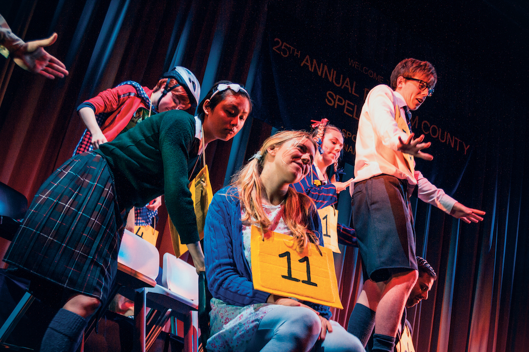 The 25th Annual Putnam County Spelling Bee - Tom Byrne (standing) with Full Company