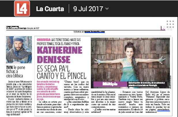 KD en Diario La Cuarta | katherinedenisse