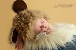 צילום תינוק יושן באגטל