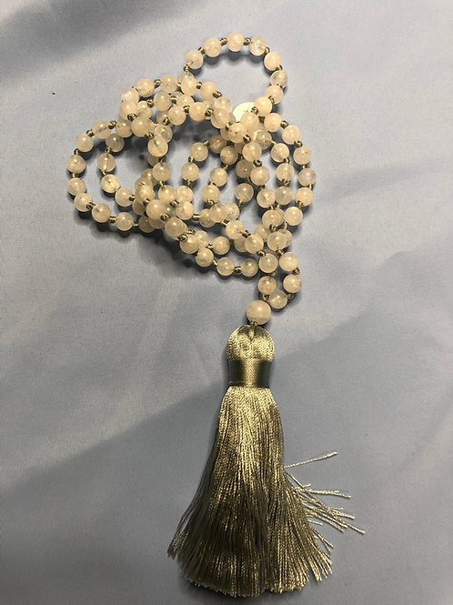 Moonstone Mala (Prayer Beads)